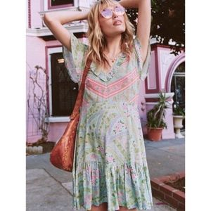 Spell & the Gypsy City Lights Mini Tunic Sage